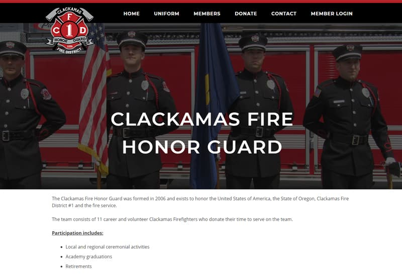 Clackamas Fire Honor Guard