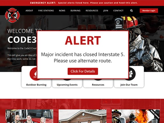 Fire Service Features For Websites